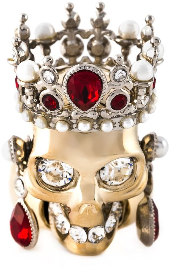 You searched it... we post it! The Alexander McQueen royal skull ring now on ShopStyle