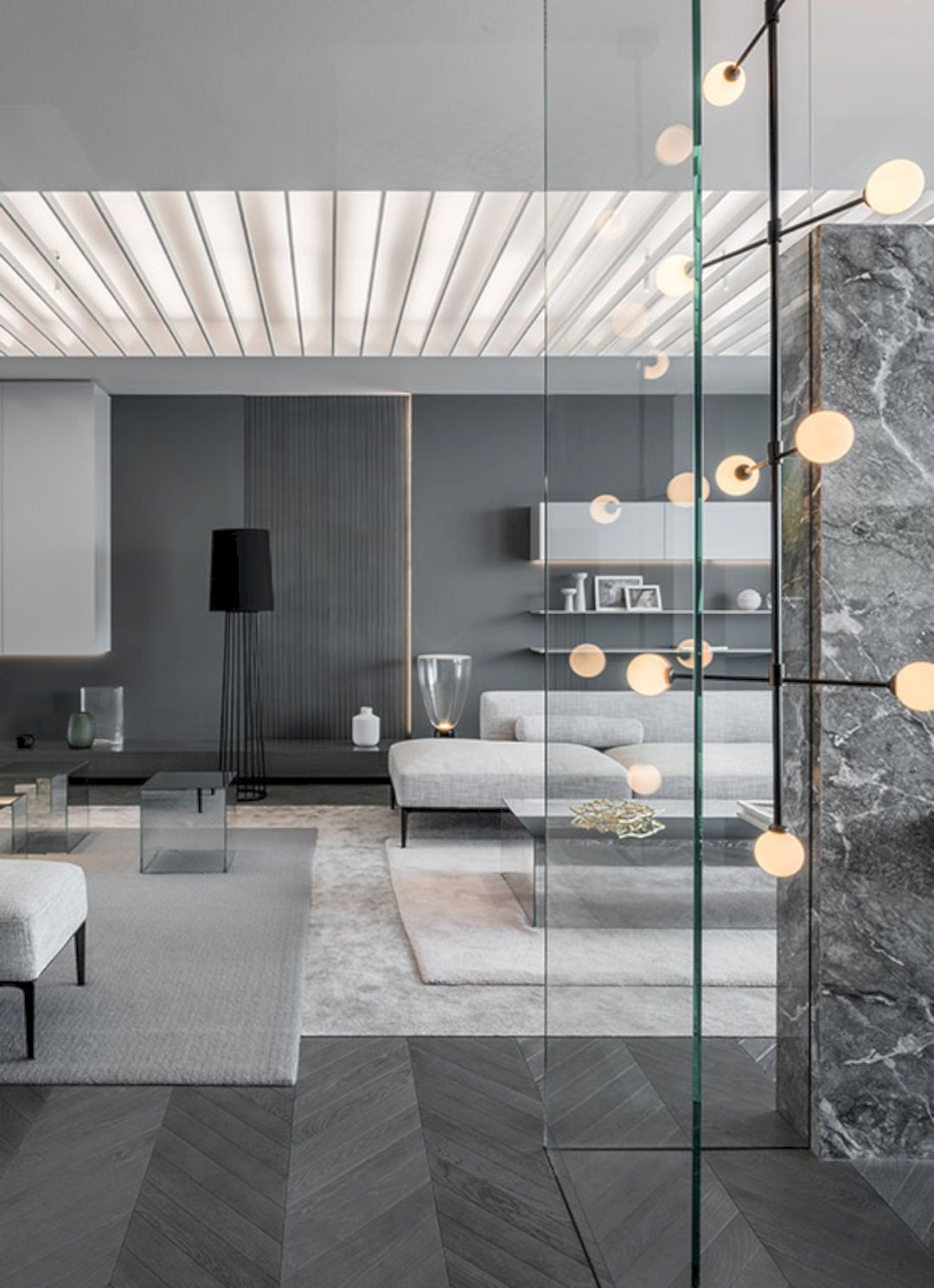 Shades of grey an apartment demonstration with modern interior and dark theme architecture also tranquil house  brutalist tour de force in suburban japan jaw rh pinterest