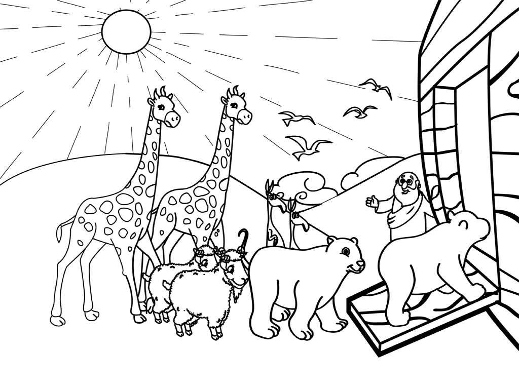 Noah And His Ark Coloring Page
