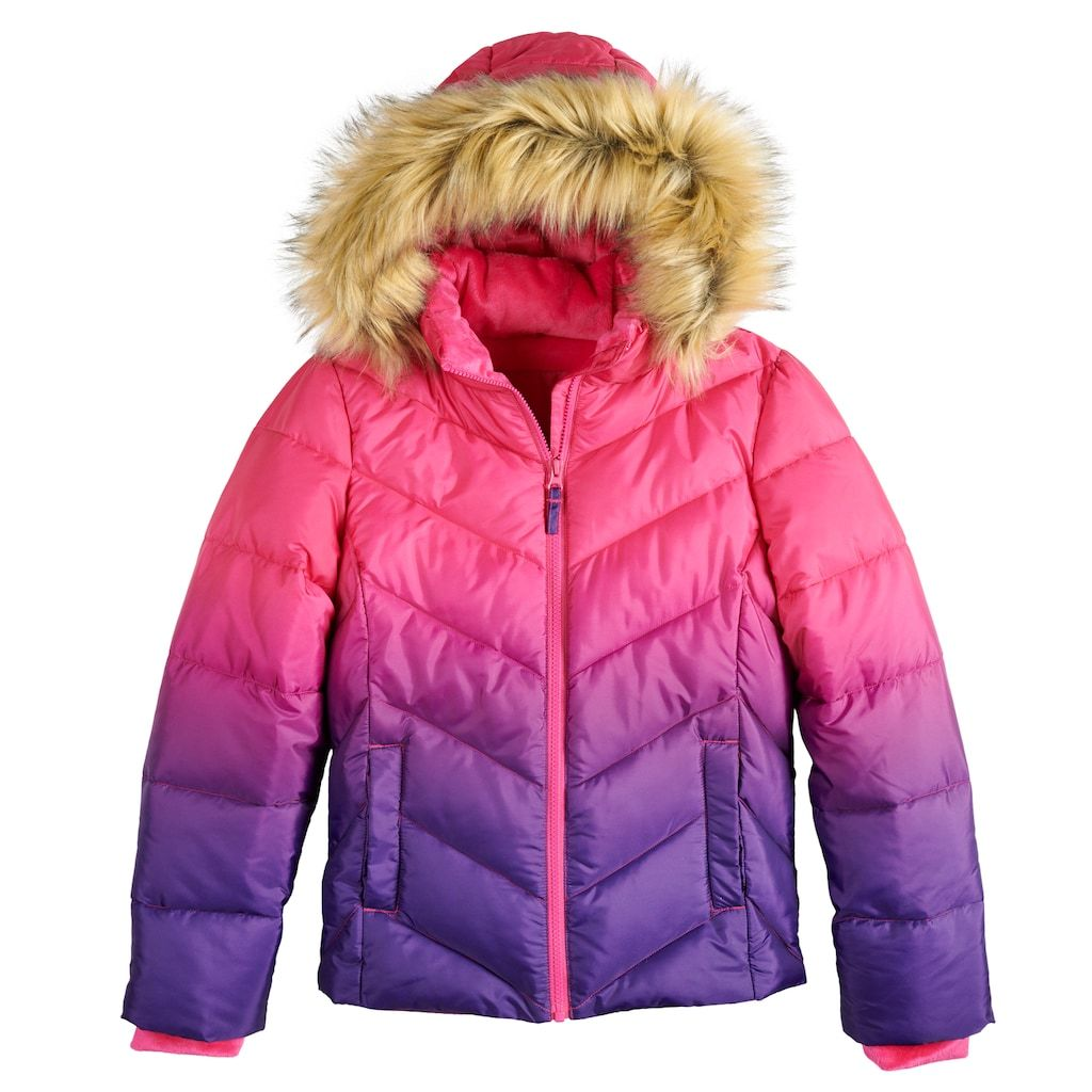 49ca4a90ea70 Girls 4-16 SO® Faux Fur Heavyweight Puffer Jacket