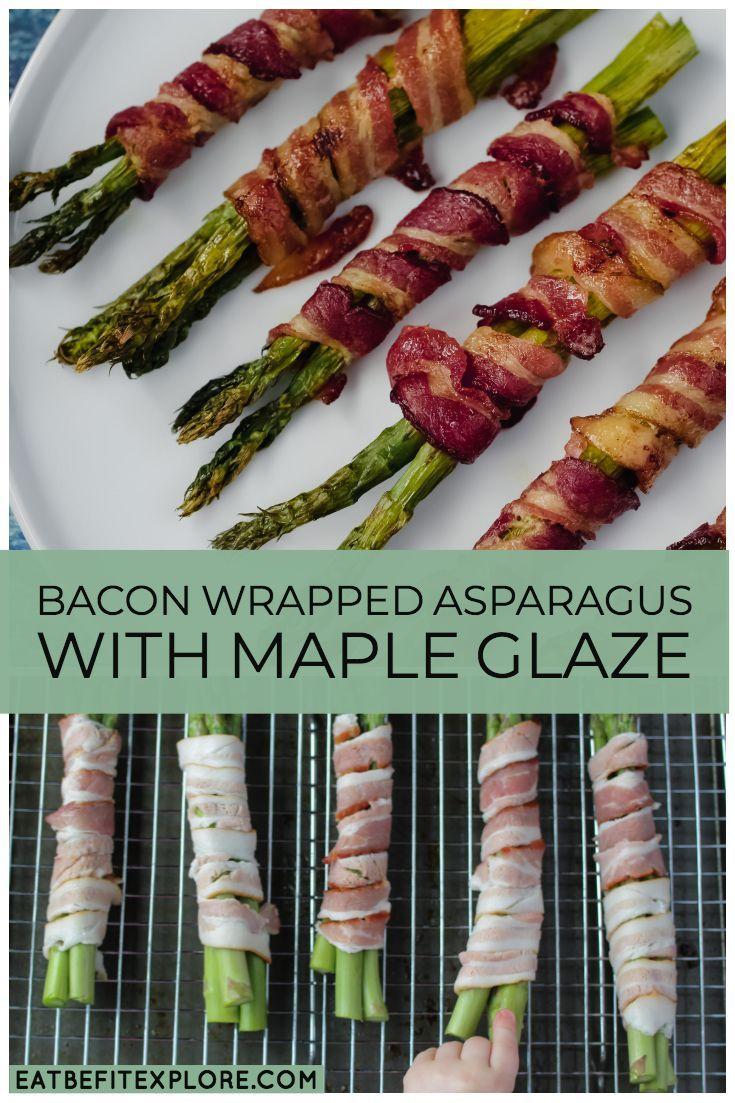 These Bacon Wrapped Asparagus with Maple Glaze are Keto, Low-Carb and Paleo friendly! Great side di
