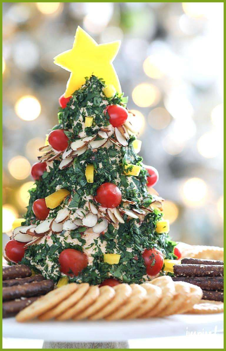 A Festive Christmas Tree Cheese Ball Appetizer Recipe A Festive Christmas Tree Cheese Ball Appetize