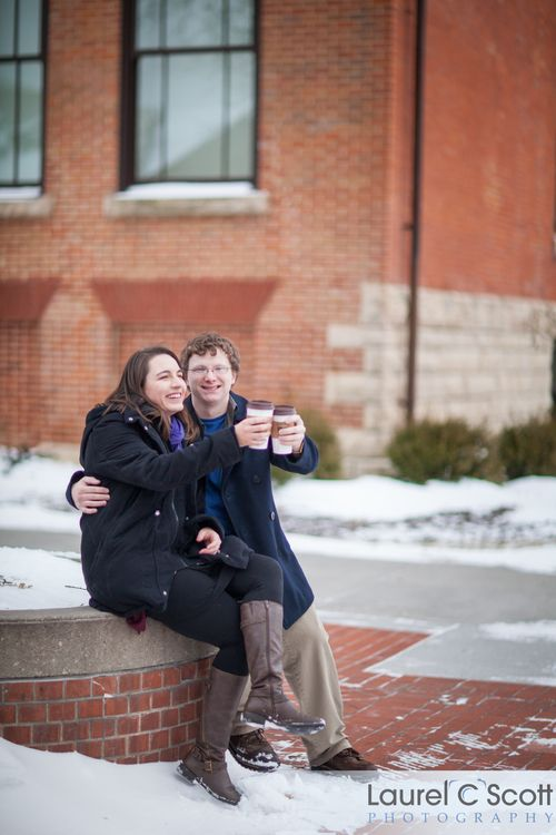 A Midwest Winter Engagement Session On The Iowa State University