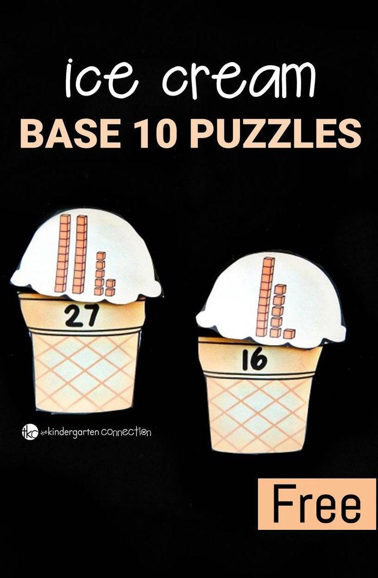 Ice Cream Base 10 Puzzles