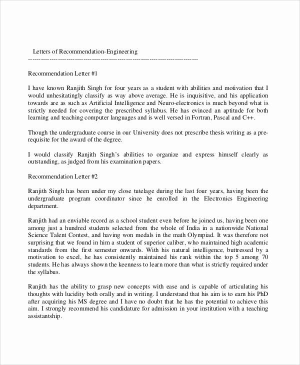 glowing letter of recommendation luxury closing a letter