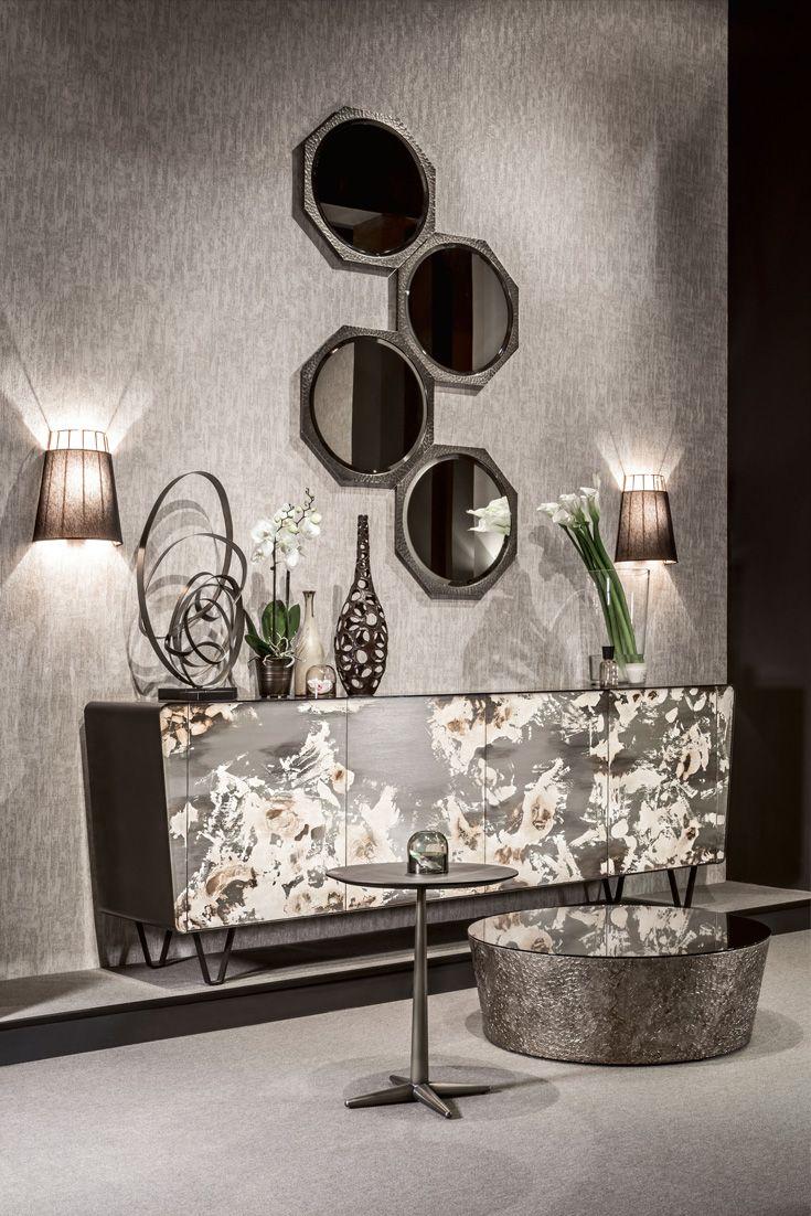 Modern Italian Decorated Bronze Sideboard In 2020 Decor Interior Furniture Design