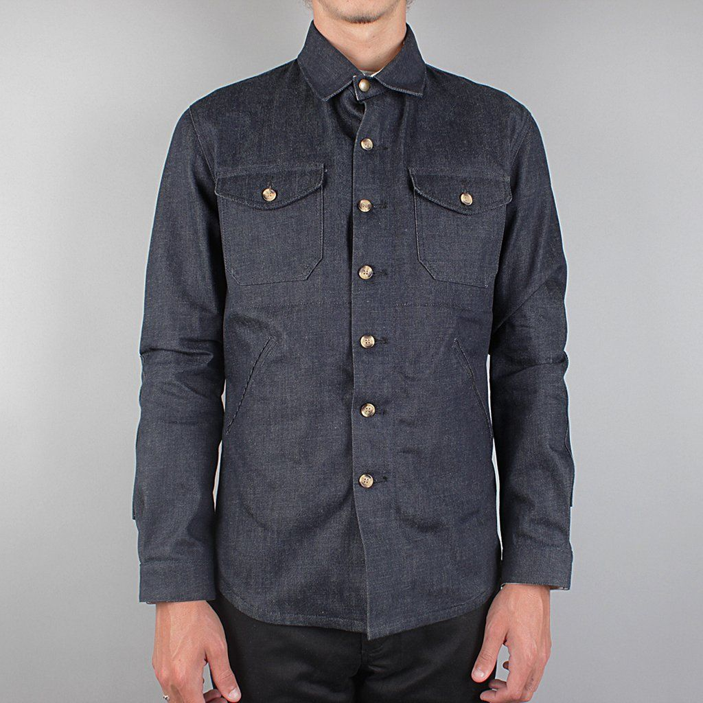 883a28d7c427 Dehen Crissman Selvedge Denim Overshirt Denim Button Up, Button Up Shirts,  Men's Style,