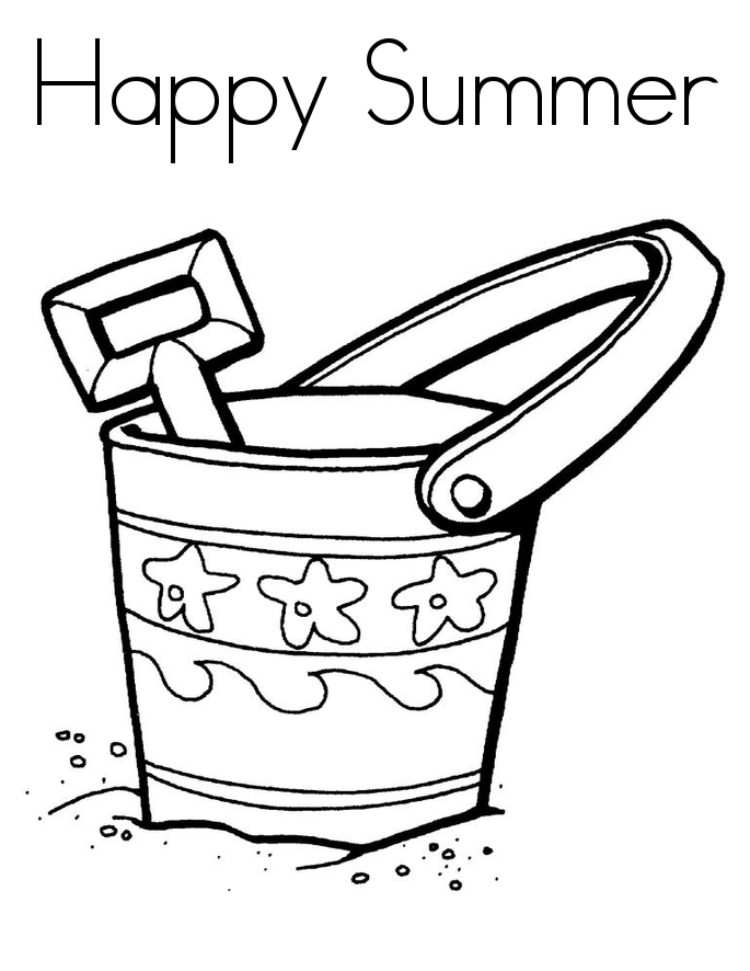 Happy Summer Coloring Pages Printable For Preschoolers Season