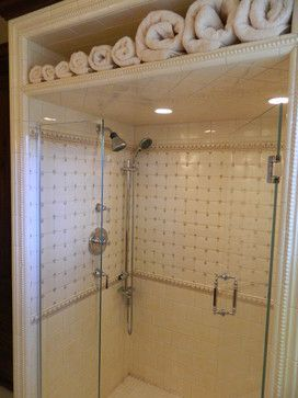 stand up showers for small bathrooms | storage above showers | Stand on small bathroom remodel ideas, master bathroom designs, small bathroom bathtub tile ideas, small half bathroom with shower and glass walls, small standalone bathtubs, doorless shower designs,