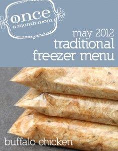 Traditional May 2012 Menu