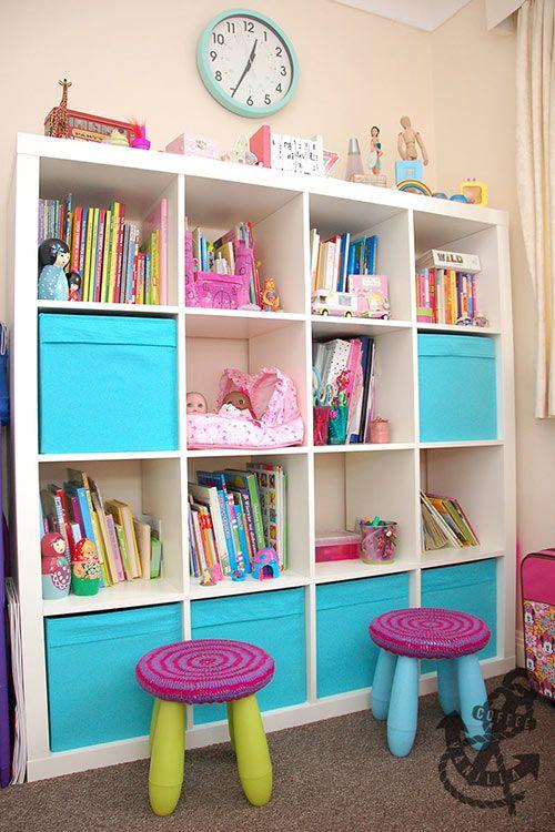 Blue Storage Kids Toy Box Playroom Furniture Bedroom Girls: Baby Blue, Pink & Green Girls' Room