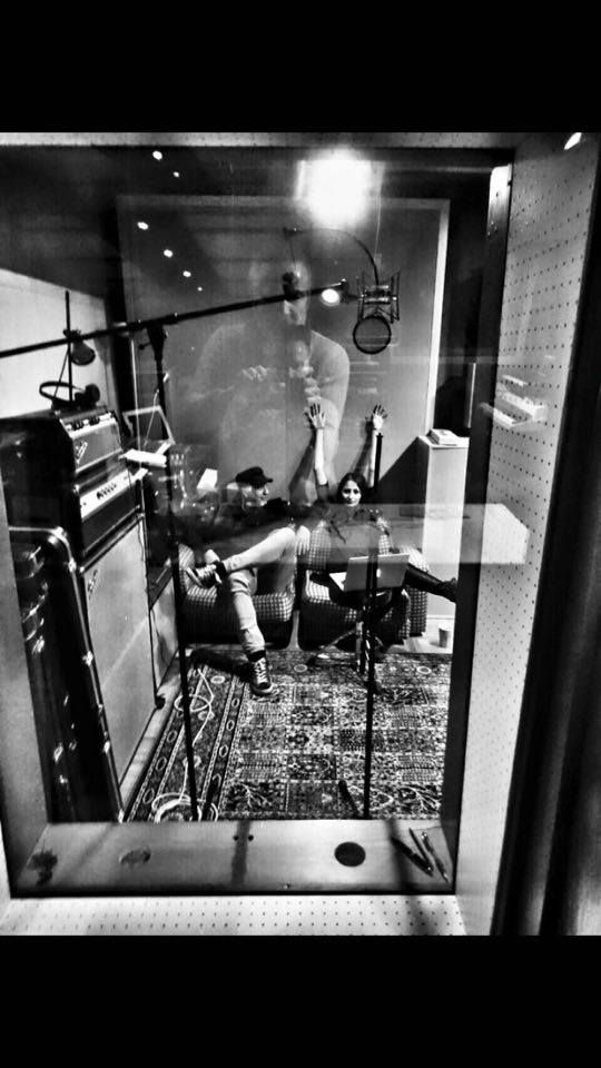 Von Seefeld in studio,  recording
