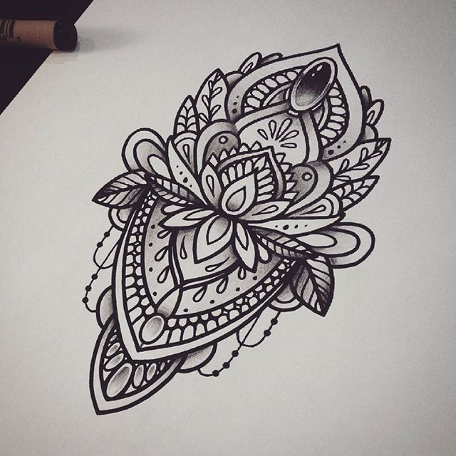 9 Mandala Tattoo Designs And Ideas: Pinterest @Cravingshay