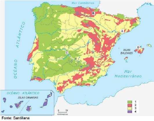 Mapa Tematico De Espana.Como Comentar Un Mapa Tematico Como Hacer El Comentario De Un Mapa Tematico Aula De Historia Relieve Espana Mapas Mapa De Espana