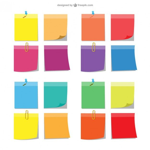 notas pegajosas coloridas   free graphics, sticky notes and graphics