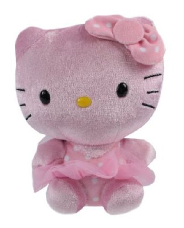 Hello Kitty Ty Pink Shimmer Beanie Baby Plush