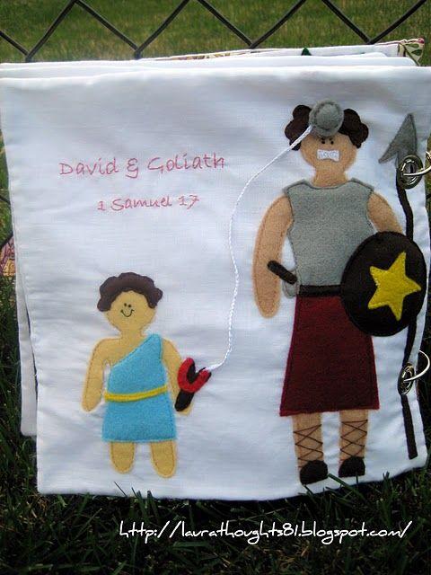 David & Goliath, Quiet Book Page