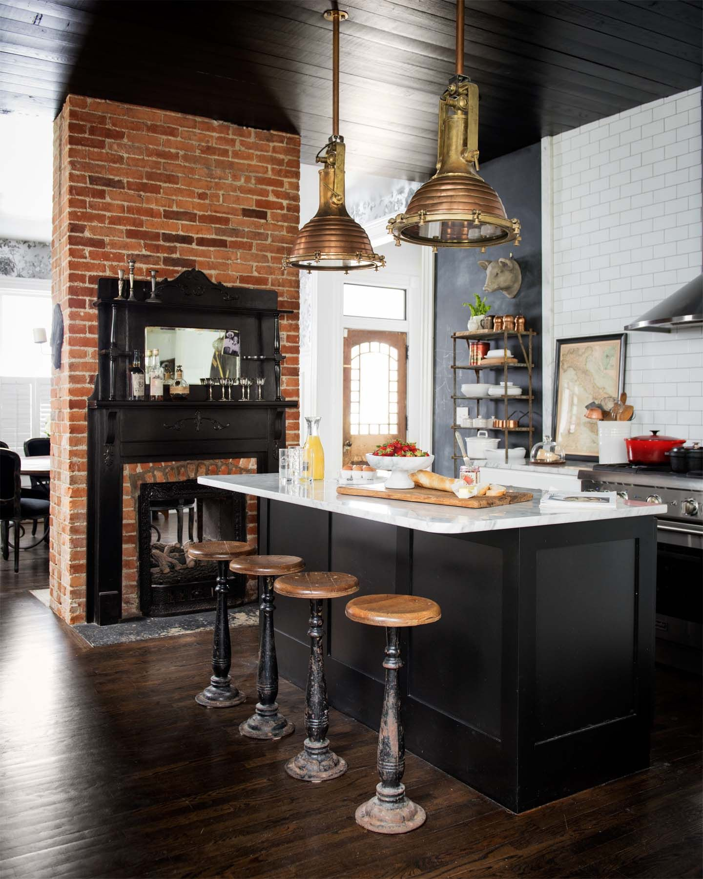 fabulous kitchens showcasing warm and cozy fireplaces white