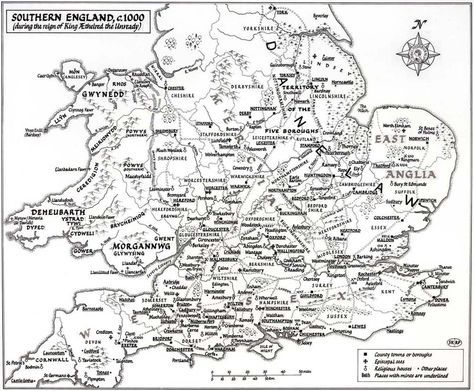 Map Of England Motorways.A Map Of England As It Was About A Thousand Years Ago Fewer