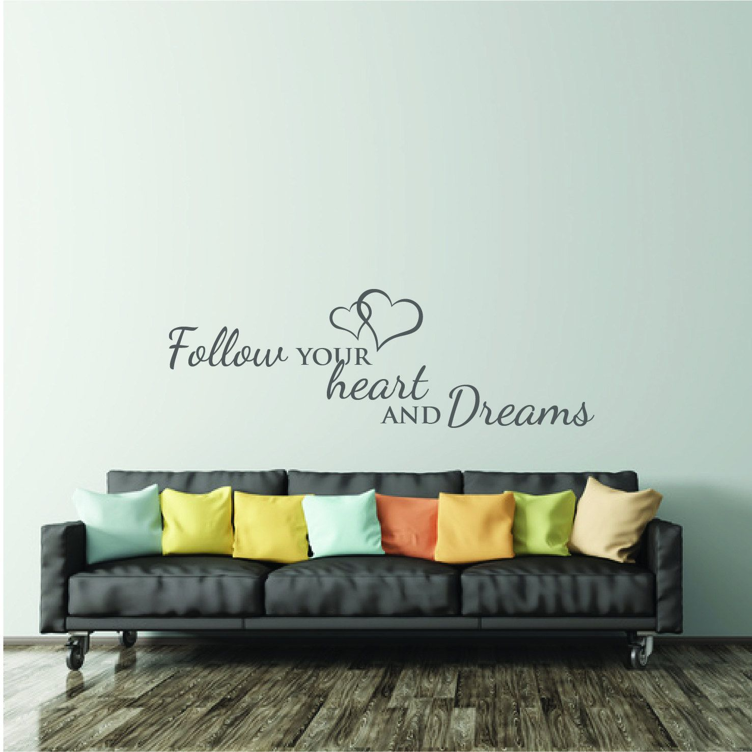 Wall Decal Bedroom Quote | Inspirational Wall Sticker Saying Living ...