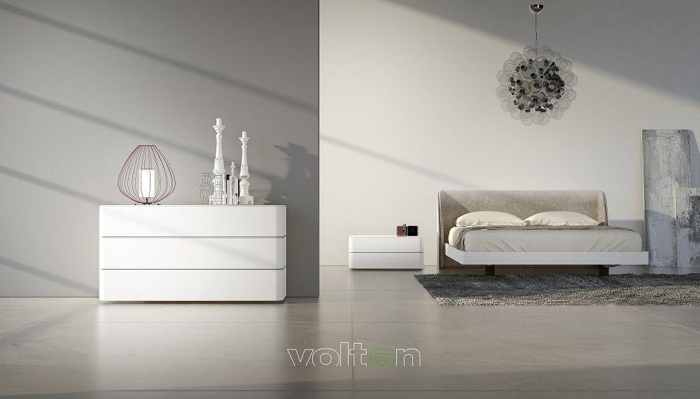 Camera da letto moderna bianca, beige, alpaca e tortora ...