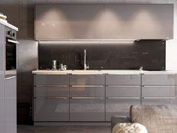 Küchenrückwand Ikea ~ Cozinha moderna em cinzento brilhante da ikea cozinhas
