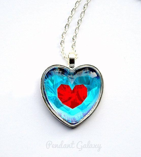 Legend of zelda heart necklace zelda heart necklace zelda heart legend of zelda heart necklace zelda heart por pendantgalaxy aloadofball Choice Image