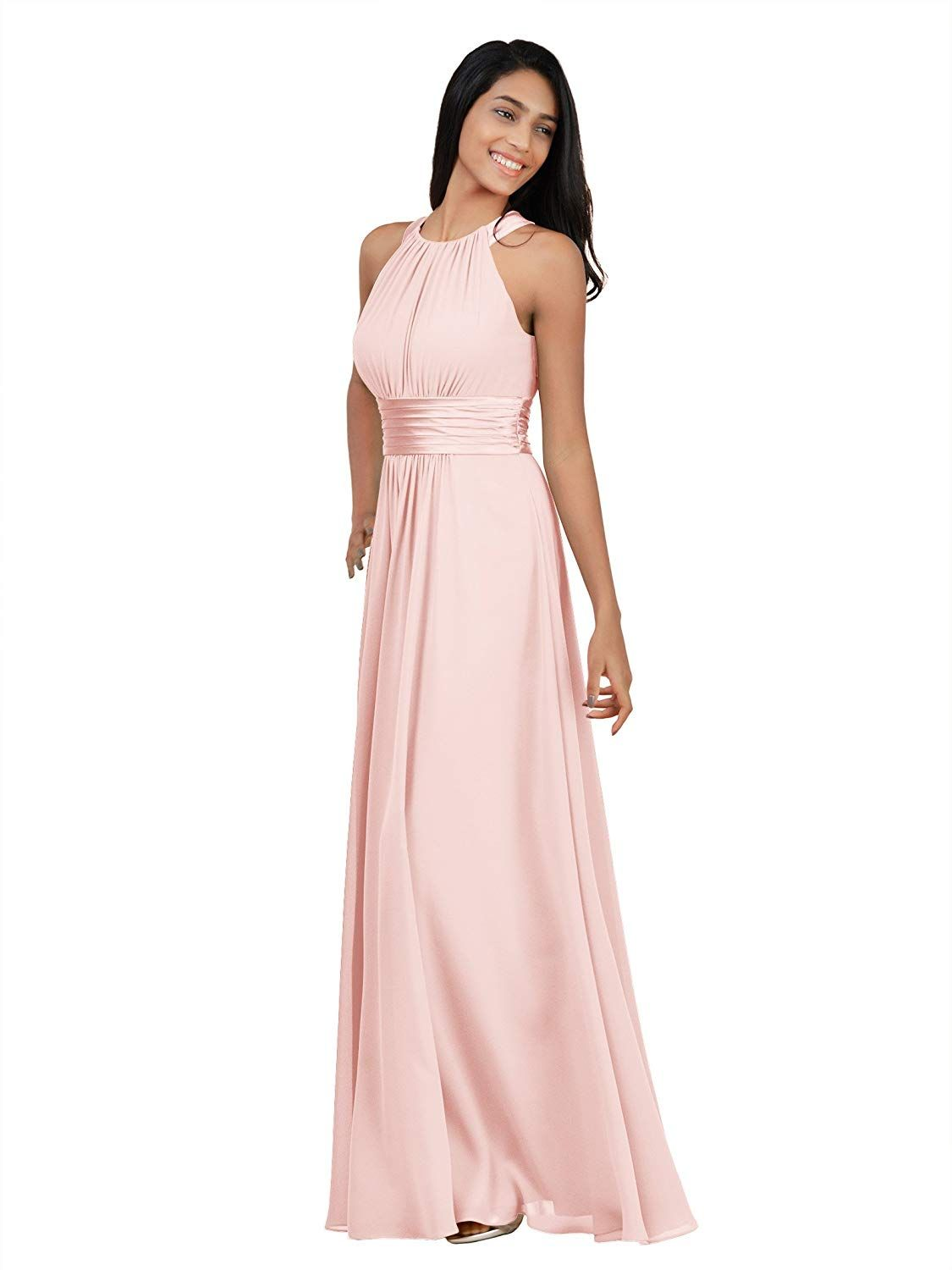 62f5b5e0912 Alicepub Bridesmaid Maxi Dresses Long for Women Formal Evening Party Prom  Gown Halter at Amazon Women s Clothing store