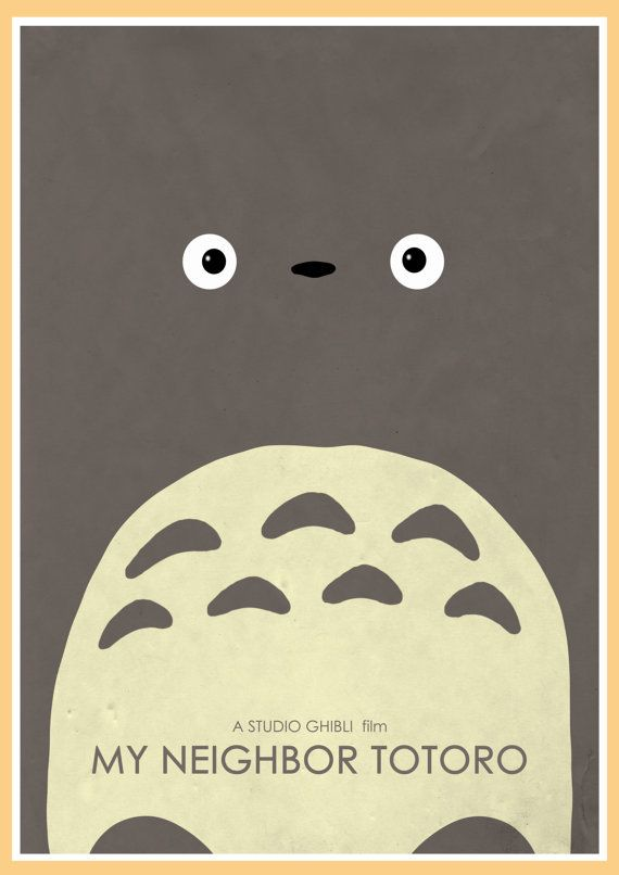 My Neighbor Totoro Alternative Movie Poster by GlanPrints on Etsy