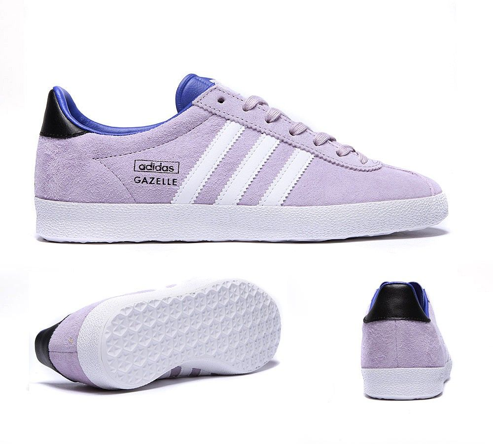 separation shoes 01fb7 0a142 Adidas Originals Womens Gazelle OG Trainer   Bliss Purple   White    Footasylum