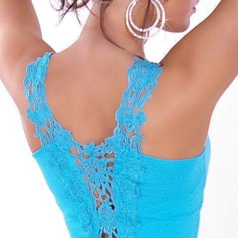 In-Style Damen Shirt & Träger-Top mit Stickerei Einheitsgröße (32-38)