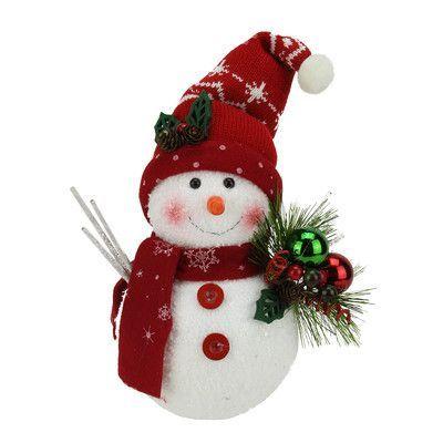 Northlightseasonal Alpine Chic Sparkling Snowman With Knit Santa Hat And Ornament Decorações Natalinas Enfeites De Natal Ideias De Decoração De Natal