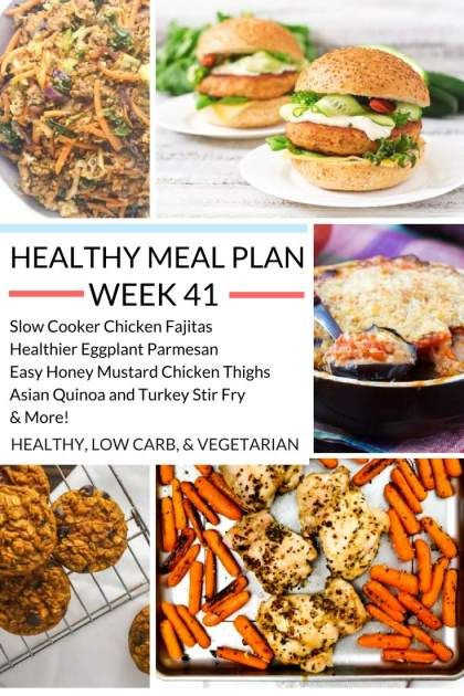 Healthy Meal Plans Week   Healthy Eggplant Parmesan Healthy
