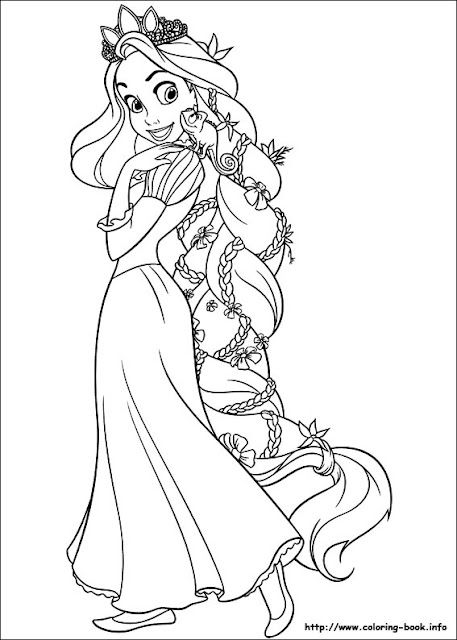 Coloring Pages Disney Princess Coloring Pages Tangled Coloring Pages Rapunzel Coloring Pages