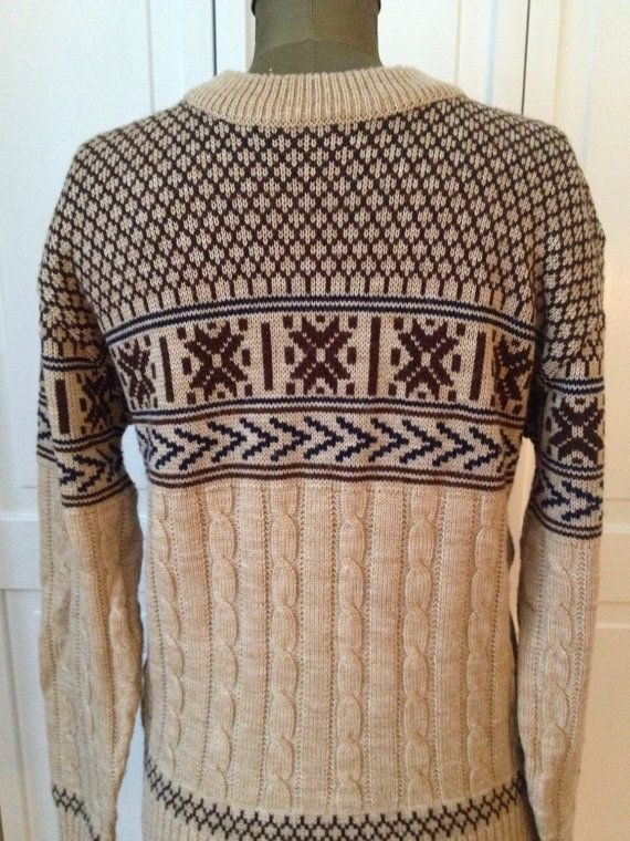 Free ship awesome 70s ski sweater with by NorthCountryClassics