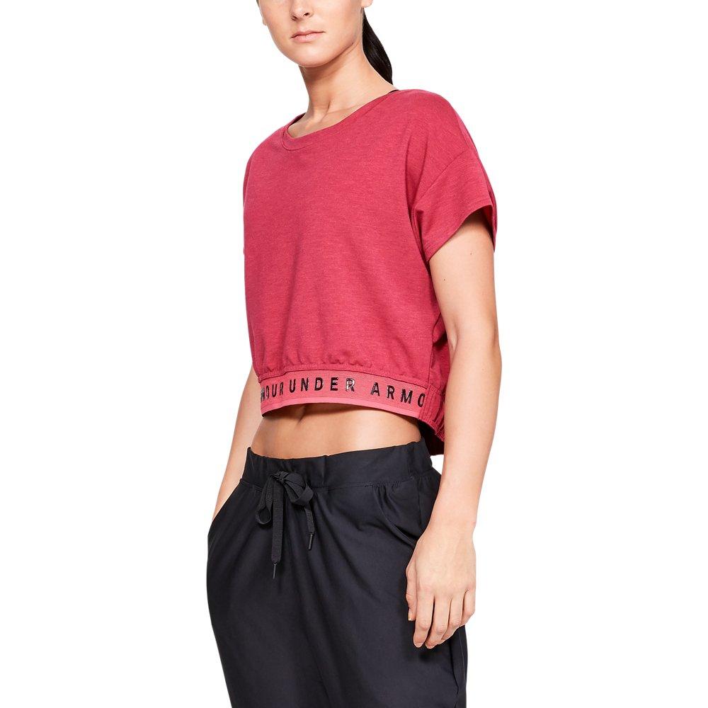Under Armour Womens Featherweight Fleece Crop Top Short-Sleeve Shirt