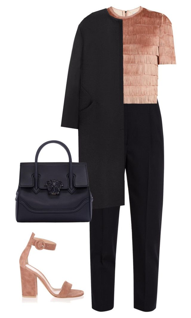 """""""new york winter"""" by ksasya on Polyvore featuring Alexander McQueen, Raey, Non, Gianvito Rossi, Versace, Winter and Newyork"""