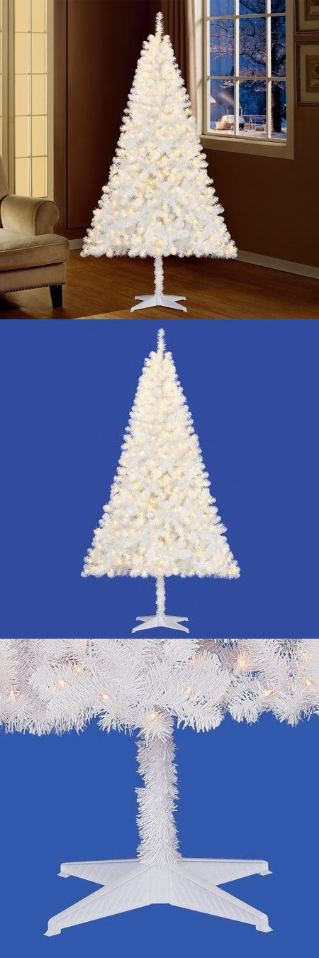 Artificial Christmas Trees 117414 White 65Ft Pre-Lit Madison Pine