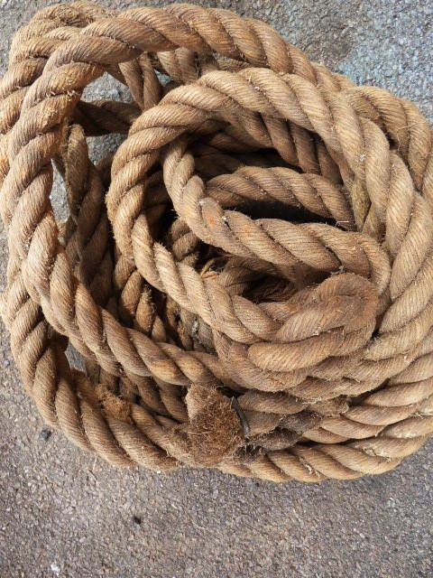 Thick Old Rope Barn Salvage Large Vintage 1 1 4 Inch Rope Nautical Primitive Rustic Supplies 25 Ft Nautical Rope Rope Handmade