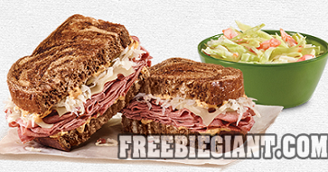 free coleslaw or small fry drink wyb reuben or rachel at arbys printable coupon