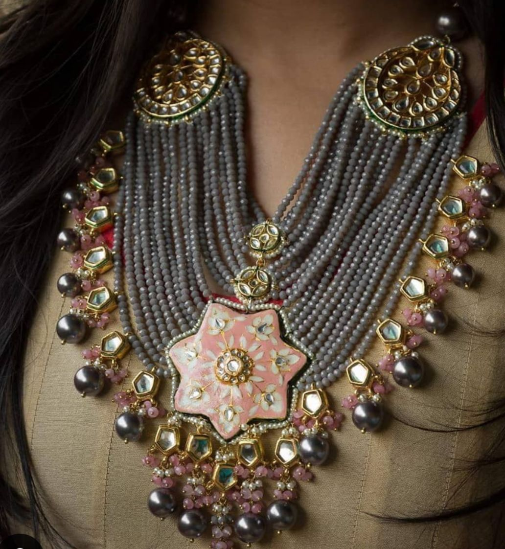 30 featured trendy meenakari indain bridal jewelry