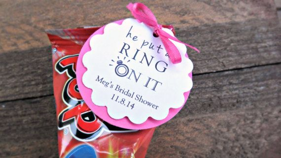 Custom Bridal Shower Favors Engagement Party Favors He Put a Ring