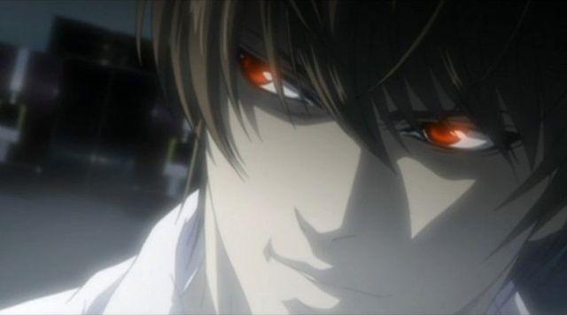 Light Yagami as Kira stare
