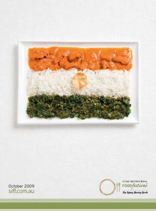 Edible Flag India  - foods inspired by the country