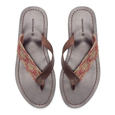WOVEN THONG SANDAL - Shoes - Man   ZARA Romania