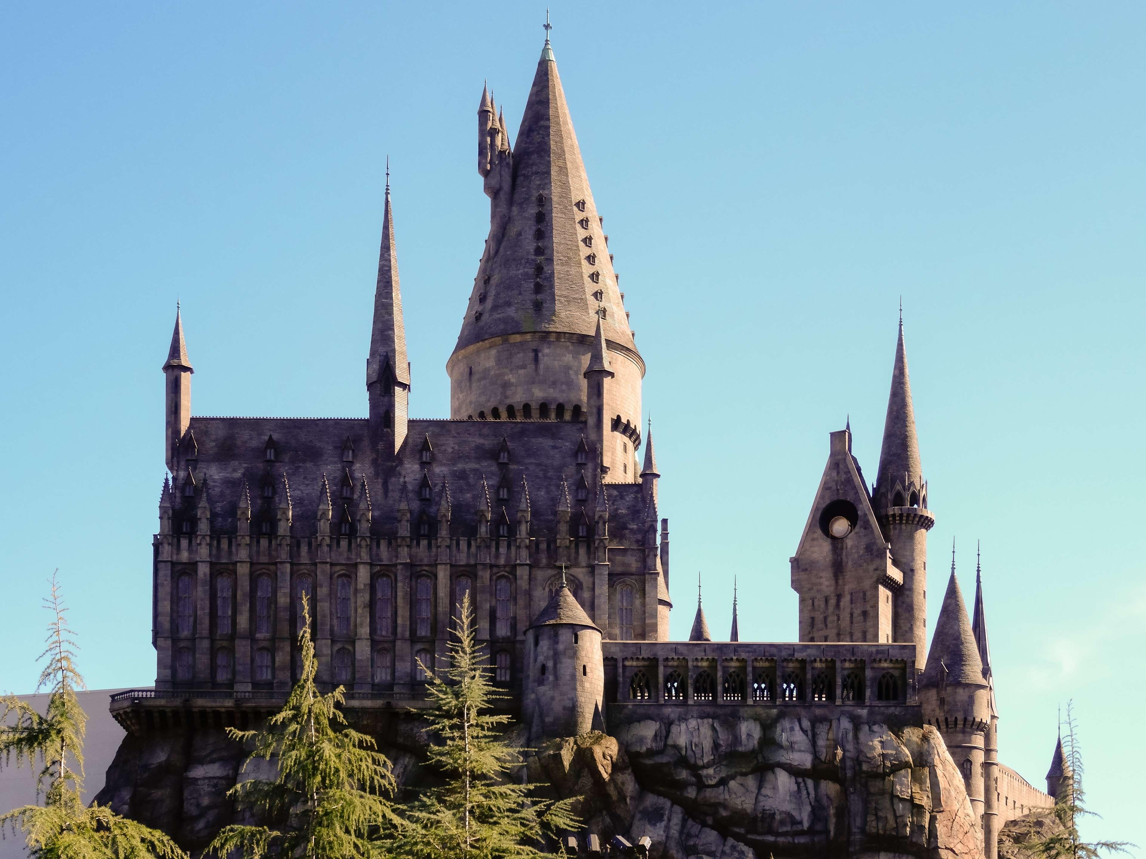Achitecture Blue Sky Building California Castle Conjure Harry Potter Hogwarts Los Angeles Ma Magical World Of Harry Potter Hogwarts Harry Potter Tour