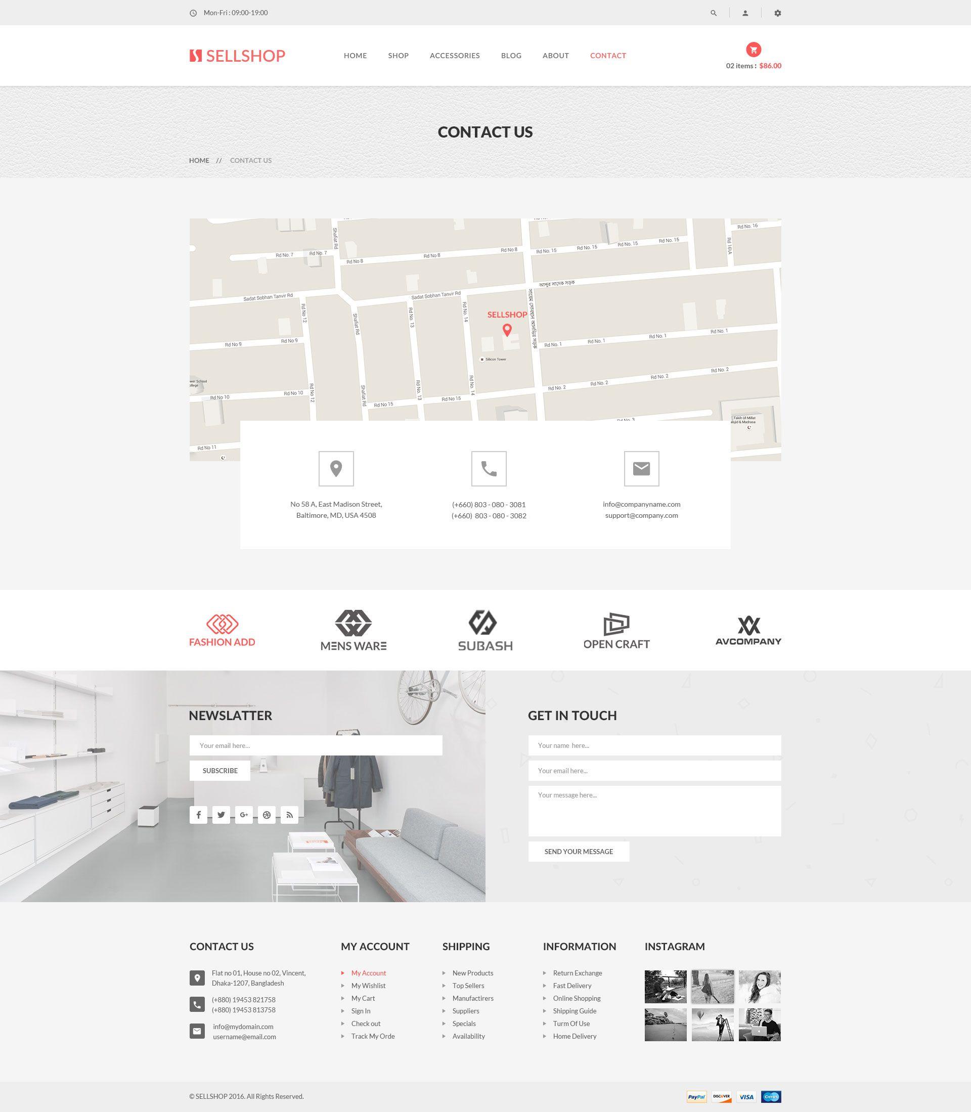 SellShop - eCOMMERCE PSD Template | Fashion | Pinterest