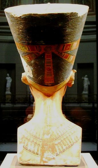 queen nefertiti bust from the back side the power of