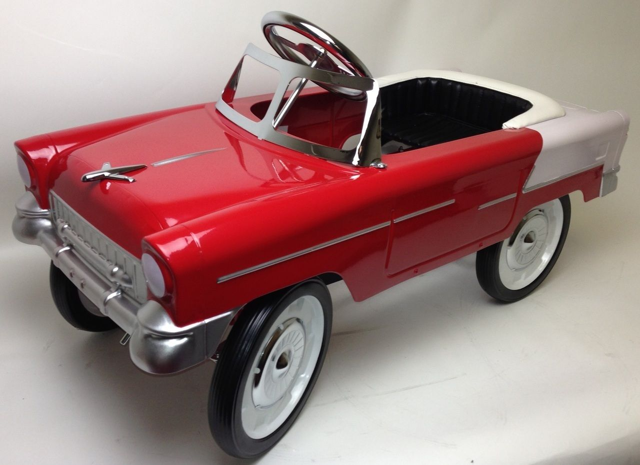 PedalCar.com - Red and White 55 Classic Pedal Car (Out of Stock ...