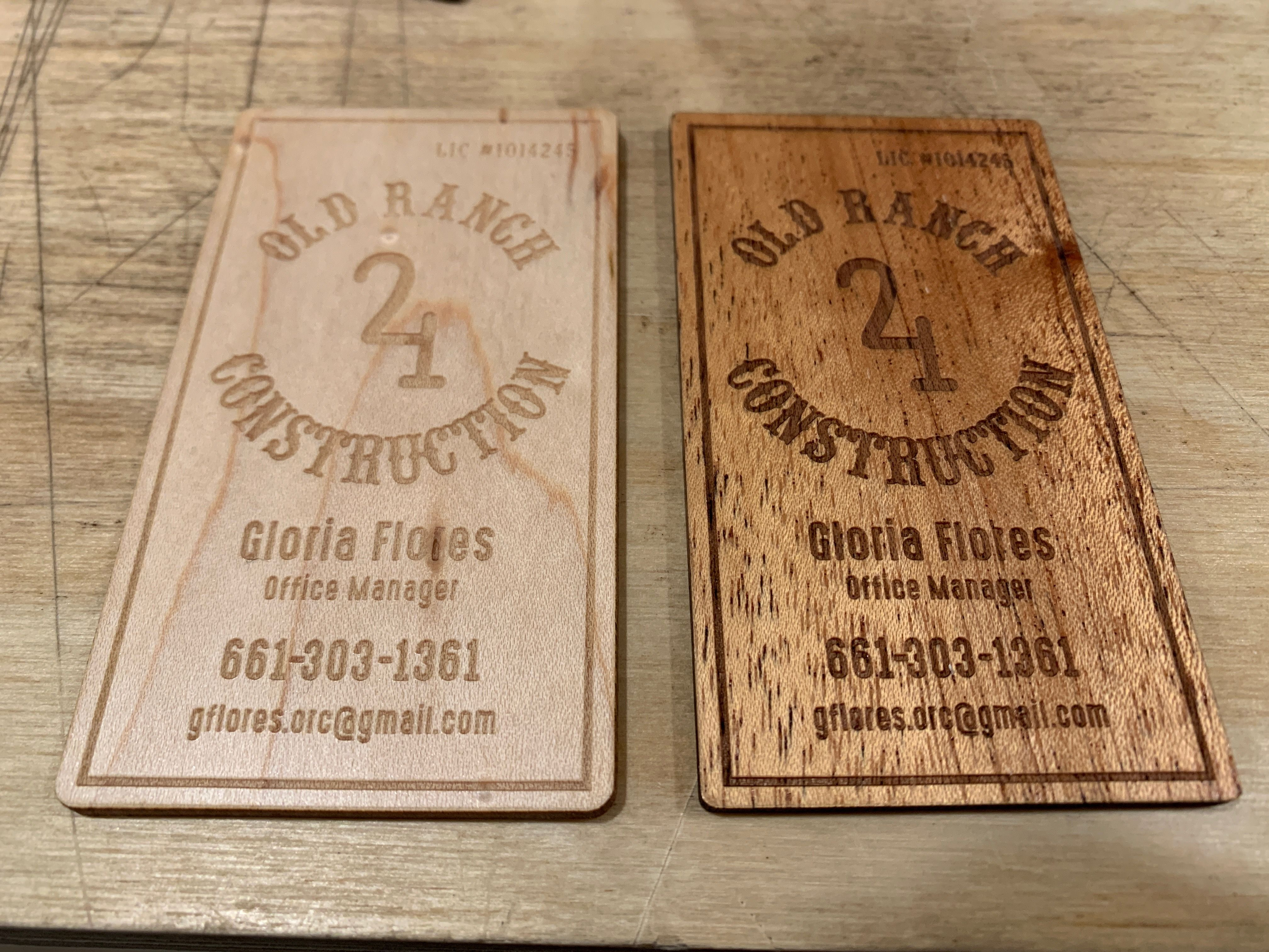 Alder And Mahogany Wood Business Cards They Are About As Thick As Two Credit Cards And Wood Business Cards Laser Engraved Business Cards Metal Business Cards